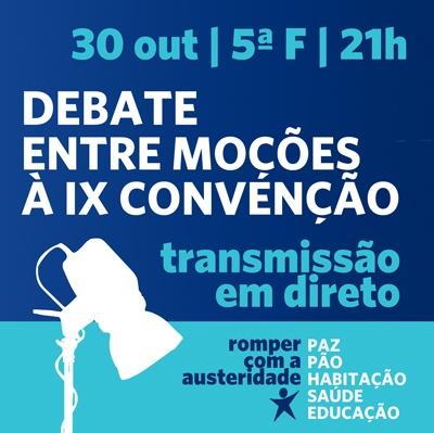 Debate será transmitido em direto